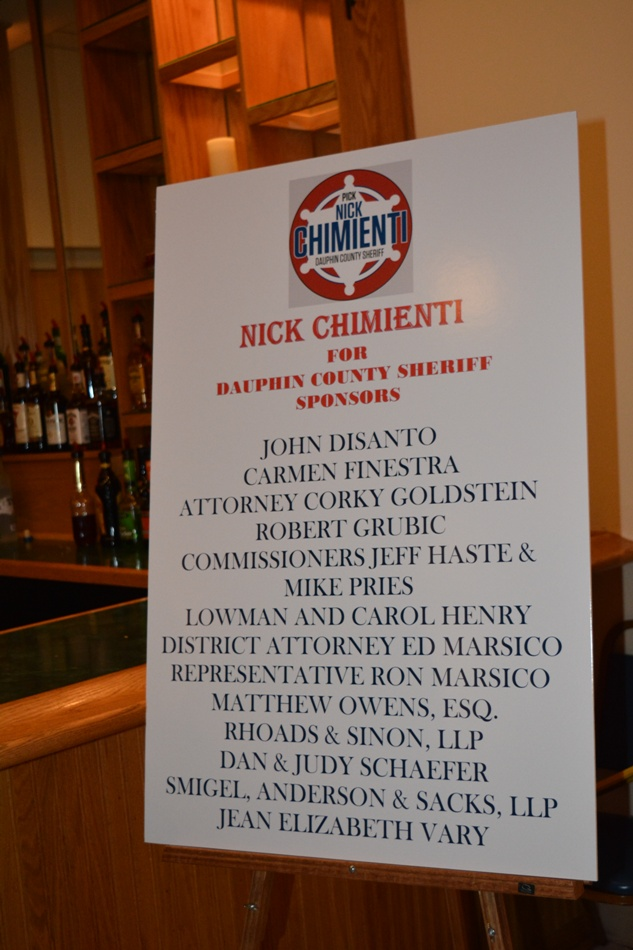Nick Chimienti For Sheriff Fundraiser - An evening of Jazz and Great Food